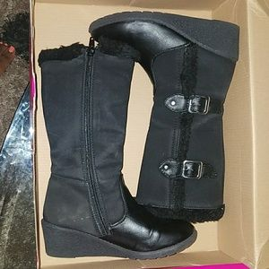 Size 2 tall black girl's boots